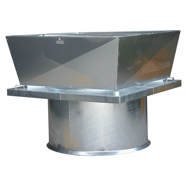 Heavy Duty Roof Mounted Axial Fan Vertical Discharge